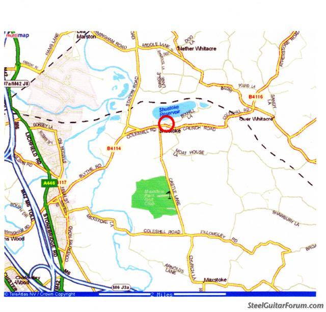 Shustoke Sailing Club Wed 28th (West Midlands) UK 1284_map1_1