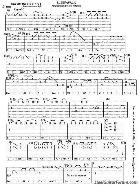 Guitar steel guitar tablature : The Steel Guitar Forum :: View topic - Does anyone have the tab to ...