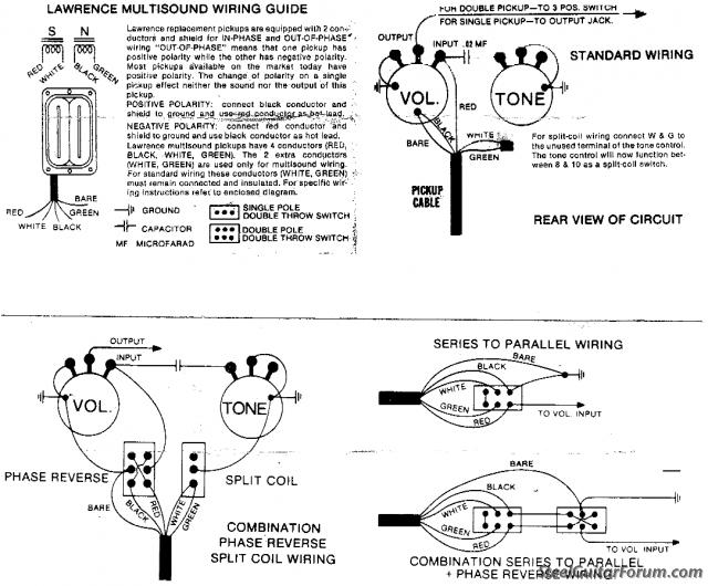 bill lawrence pickups wiring diagram   36 wiring diagram