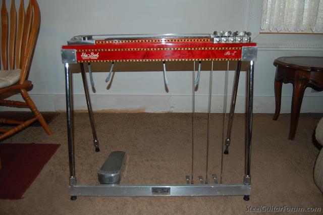 sho bud single neck 10 string red used for sale the steel guitar forum. Black Bedroom Furniture Sets. Home Design Ideas