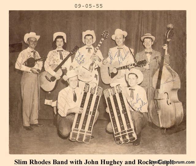 John Hughey nous a quitté 939_slim_rhodes_band_1955_with_john_hughey_and_rocky_caple_1