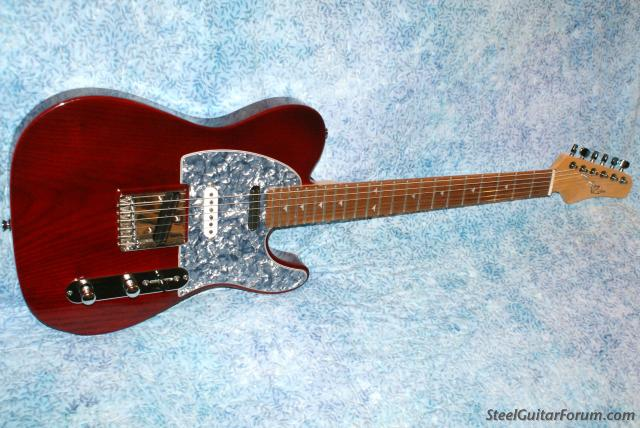 Red Nashville Tele, VZ Custom<SOLD> : The Steel Guitar Forum
