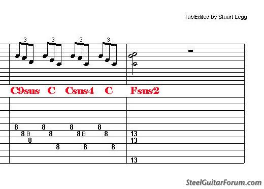 The Steel Guitar Forum View Topic About Suspended Chords