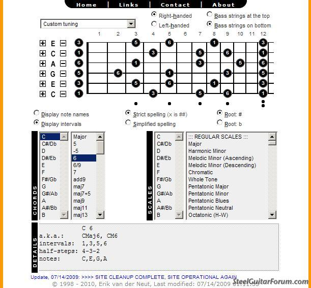 The Steel Guitar Forum View Topic C6 Or Any Other Tuning