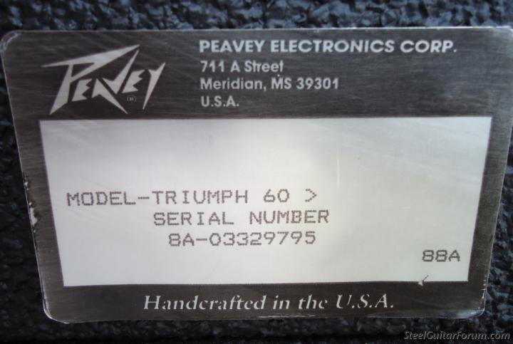 dating peavey amp serial number Dating a peavey amp head  maybe they can tell you from the serial number components inside the amp often have date codes on them  but dating an amp is a new .