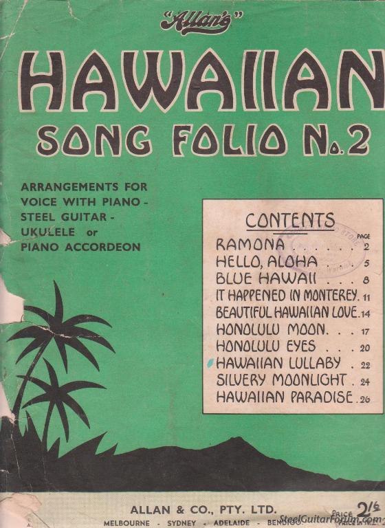 Cours de Lap Steel 9046_Hawaiian_Song_Book_no_2_cover_1