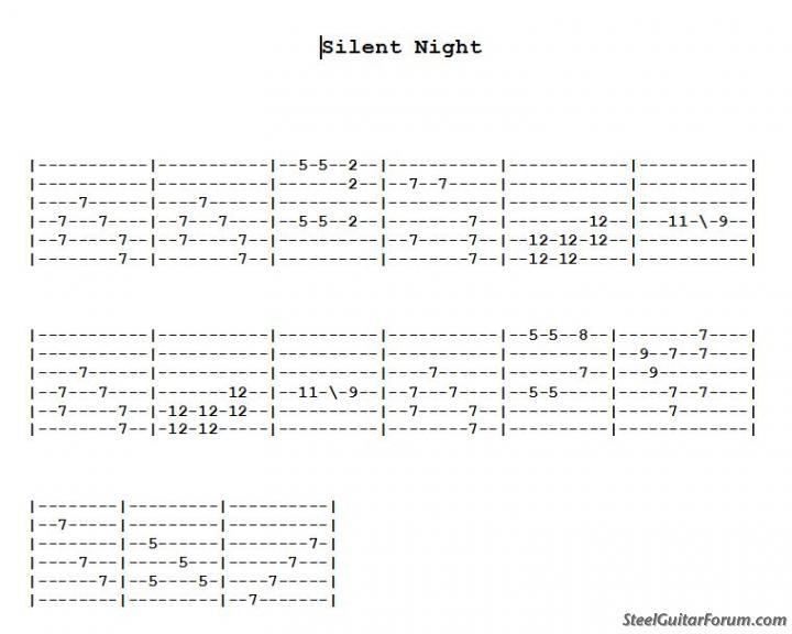 Guitar steel guitar tablature : The Steel Guitar Forum :: View topic - Silent Night 6 String C6th