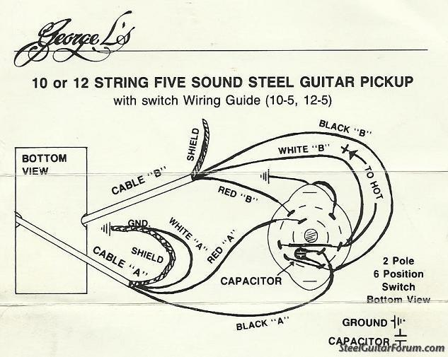 lap steel guitar wiring diagram the steel guitar forum :: view topic - sierra s8 lap steel ...
