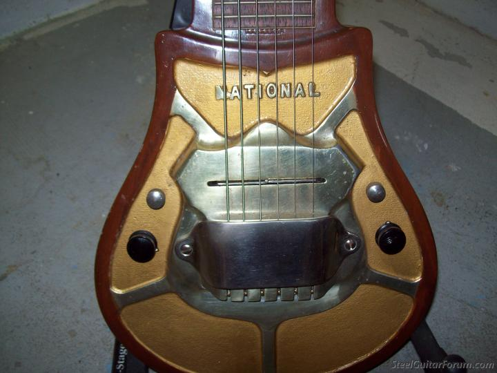Near Mint 1936 National Horseshoe Crab All Original Including Finish Case In Similar Condition Period Cord And Tonebar Included