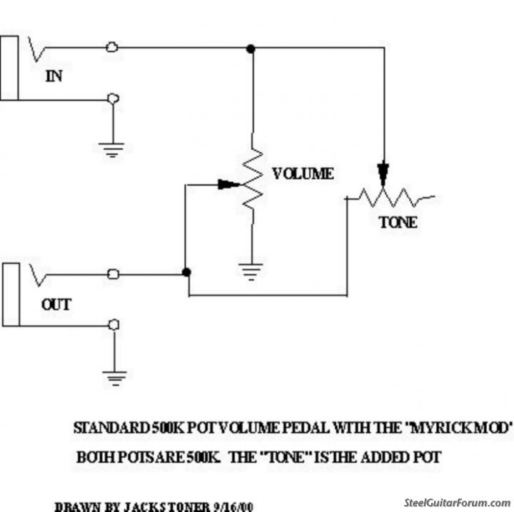 Wiring Diagram For Volume Pedal    The Steel Guitar Forum