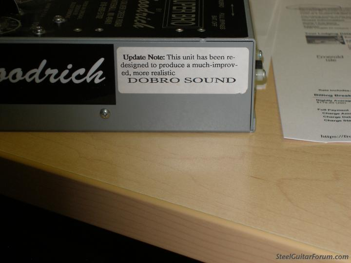 goodrich super bro sarno earth drive danelectro eq the steel guitar forum. Black Bedroom Furniture Sets. Home Design Ideas