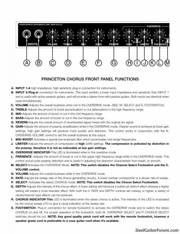 Fender Princeton Chorus Amp : The Steel Guitar Forum