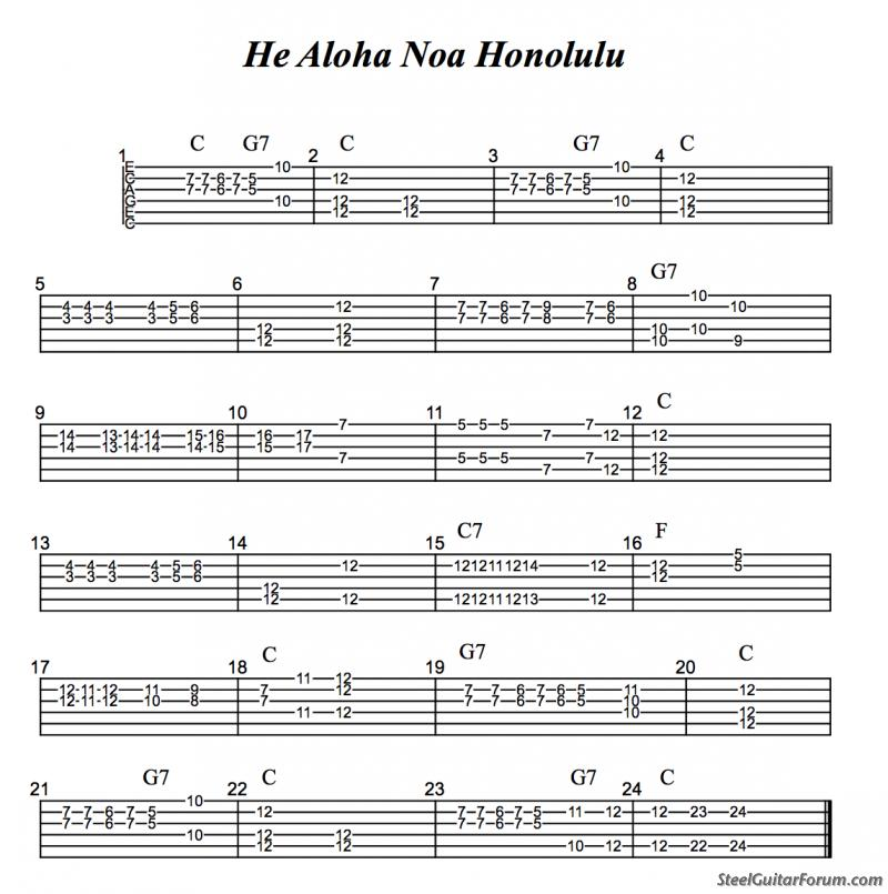 The Steel Guitar Forum :: View topic - Non-Pedal Tablature **Post Here**