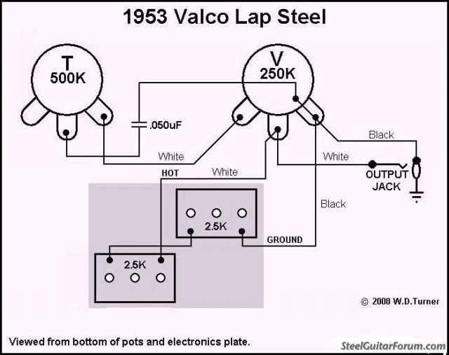 lap steel wiring diagram lap auto wiring diagram schematic the steel guitar forum view topic how to supro p u in phase on lap steel wiring