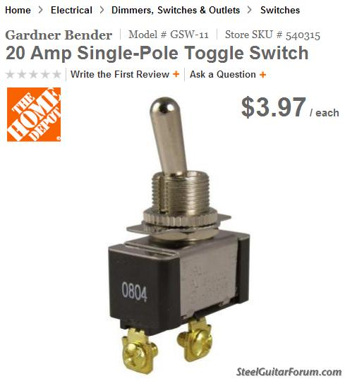The Steel Guitar Forum View topic Steel Guitar toggle switch