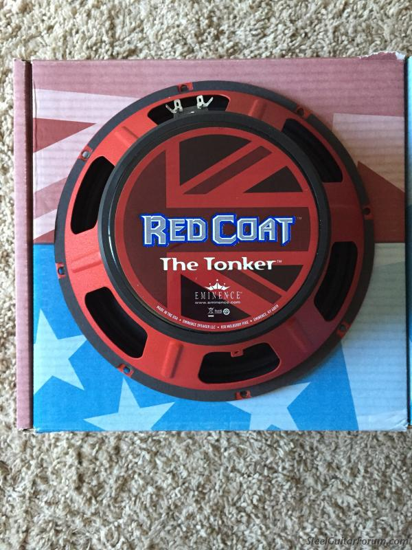 Sold - Eminence Red Coat The Tonker 12