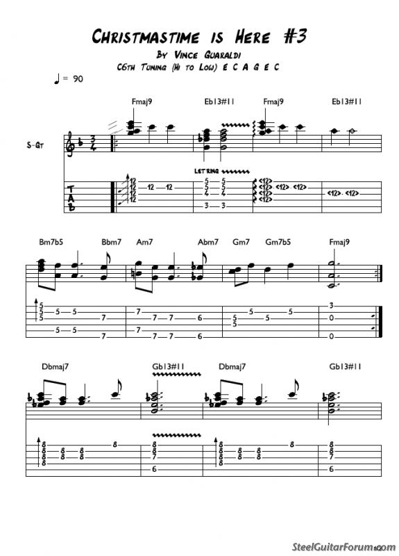 The Steel Guitar Forum :: View topic - Christmastime is Here - Free ...