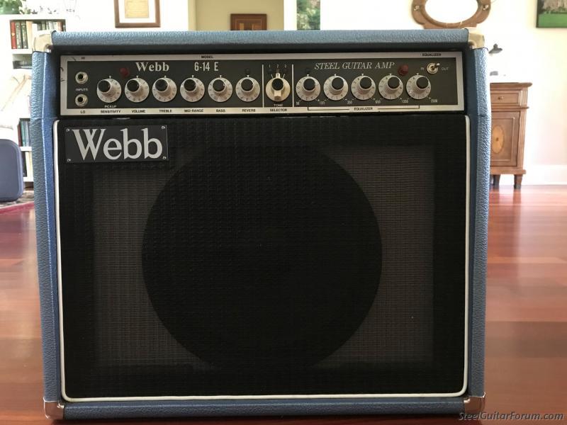 for sale webb 6 14e amp 12 sold the steel guitar forum. Black Bedroom Furniture Sets. Home Design Ideas