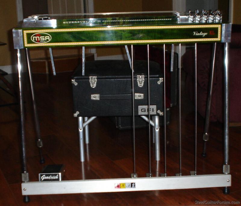 Msa Green 10 String Single Neck Case The Steel Guitar
