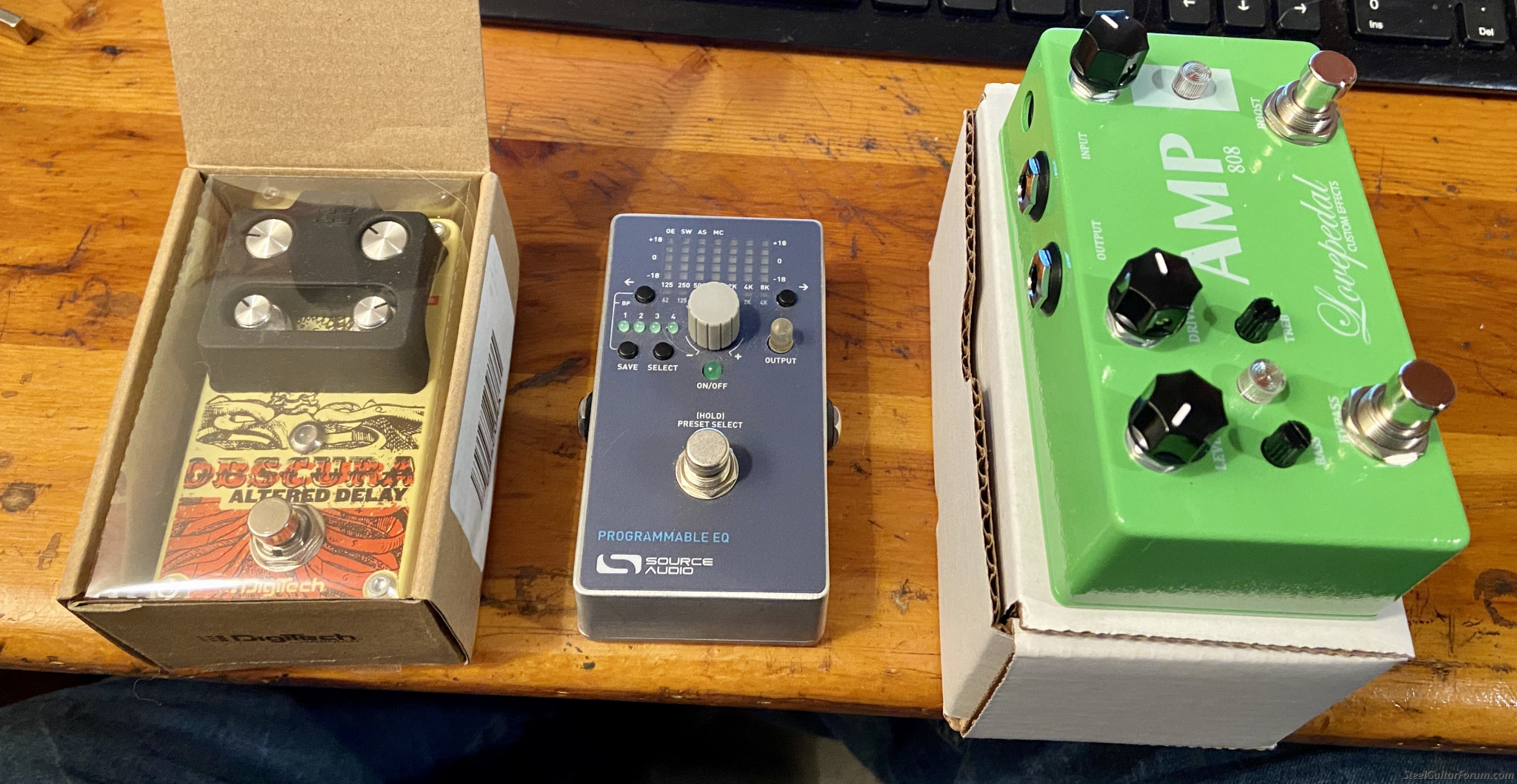 Obscura Delay / Lovepedal AMP 808 / Source Programmable EQ ...